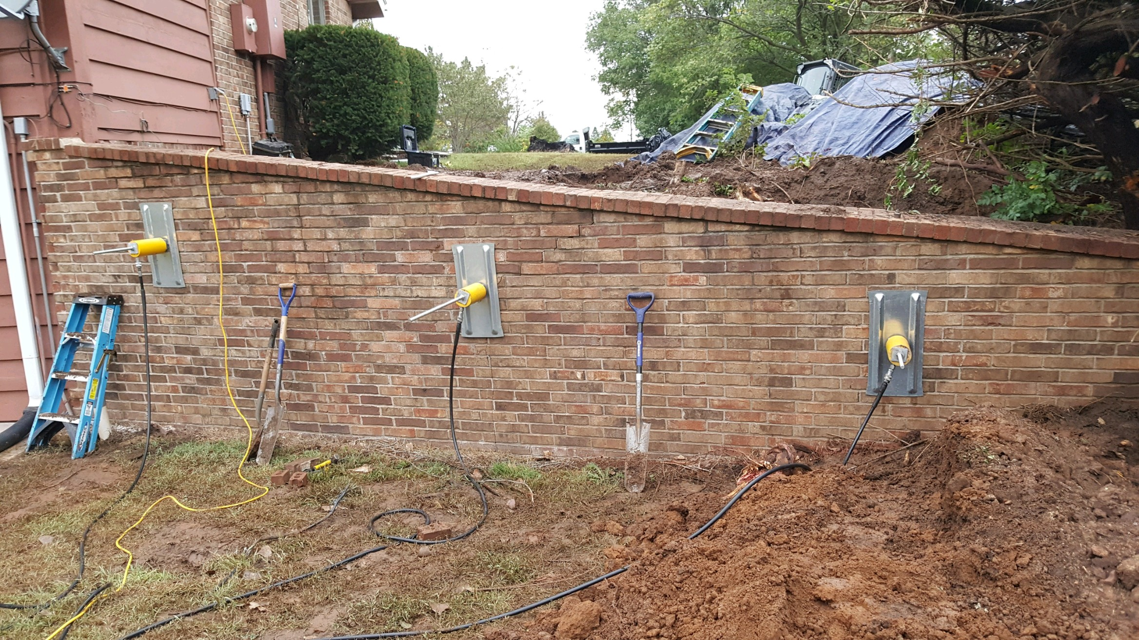 Basement waterproofing and improved drainage in the wichita ks wall anchor 2 solutioingenieria Gallery