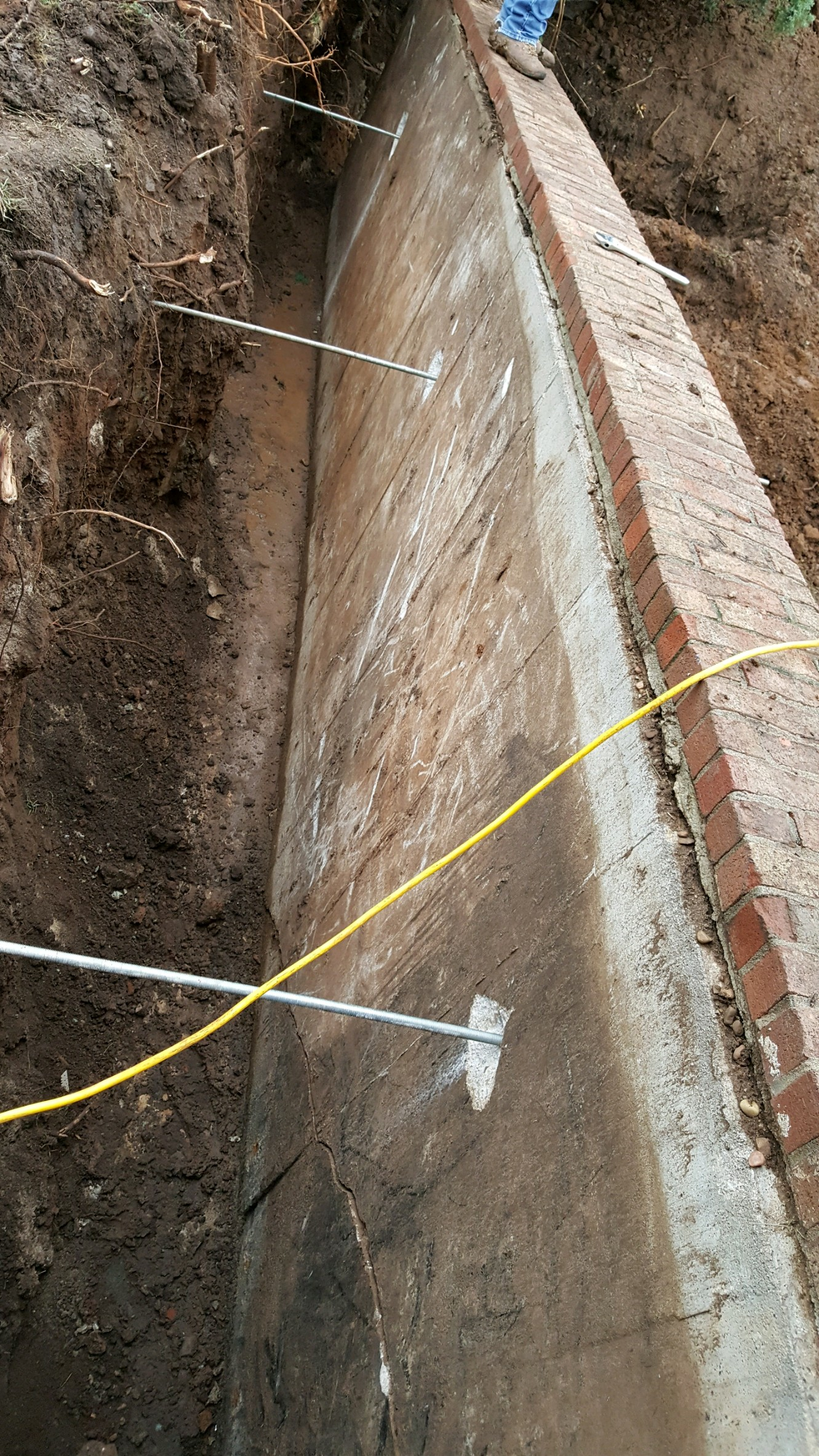 Basement waterproofing and improved drainage in the wichita ks wall anchor 6 solutioingenieria Gallery