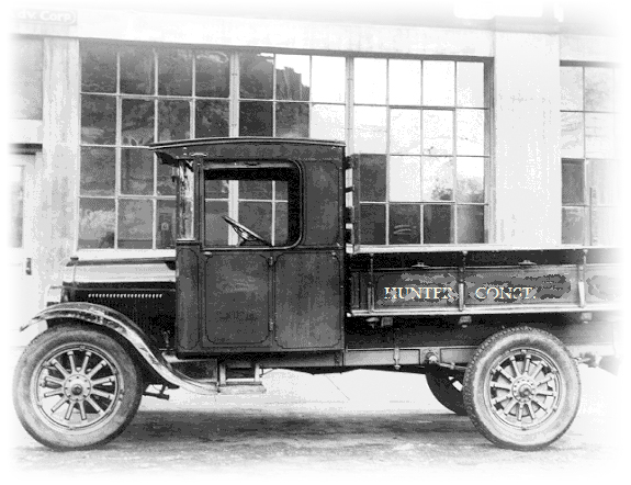 Hunter Construction truck from the 1920's